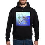 Tuna Birds Dolphins attack sardines Hoodie (dark)