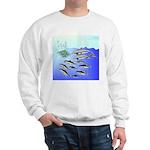 Tuna Birds Dolphins attack sardines Sweatshirt