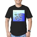 Tuna Birds Dolphins attack sardines Men's Fitted T