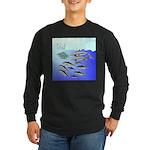 Tuna Birds Dolphins attack sardines Long Sleeve Da