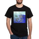 Tuna Birds Dolphins attack sardines Dark T-Shirt