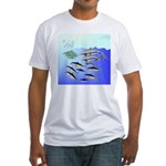 Tuna Birds Dolphins attack sardines Fitted T-Shirt