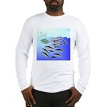 Tuna Birds Dolphins attack sardines Long Sleeve T-