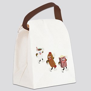soda hotdog popcorn Canvas Lunch Bag