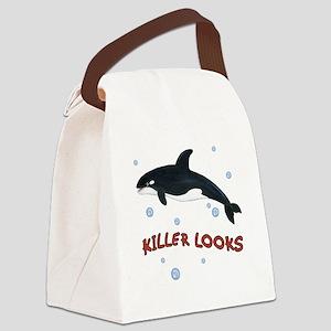 Killer Looks - Orca Whale Canvas Lunch Bag