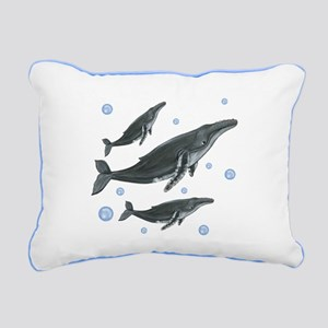 Humpback Whales Rectangular Canvas Pillow