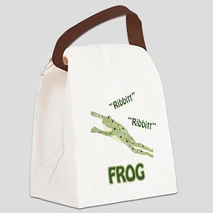 Frog - Ribbitt Canvas Lunch Bag