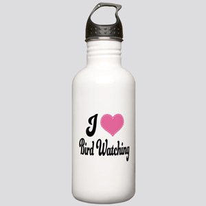 I Love Bird Watching Stainless Water Bottle 1.0L