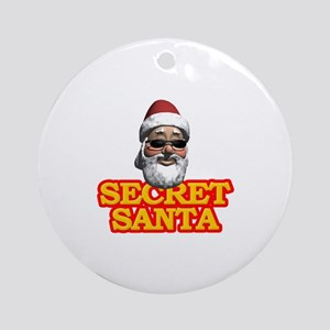 Secret Santa Ornament (Round)