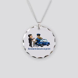 But Cops Love Donuts Necklace Circle Charm
