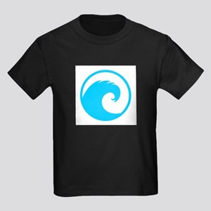 Ocean Wave Design Kids Dark T-Shirt