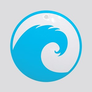 Ocean Wave Design Ornament (Round)
