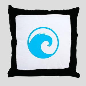 Ocean Wave Design Throw Pillow