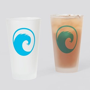 Ocean Wave Design Drinking Glass