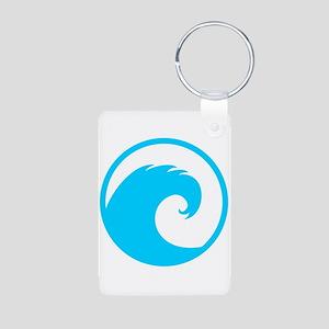Ocean Wave Design Aluminum Photo Keychain