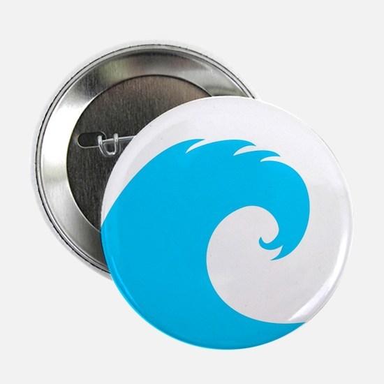 "Ocean Wave Design 2.25"" Button"