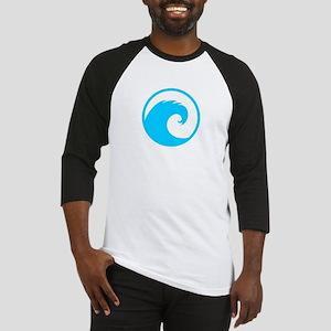 Ocean Wave Design Baseball Jersey