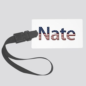 Nate Stars and Stripes Large Luggage Tag