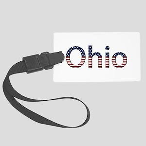 Ohio Stars and Stripes Large Luggage Tag