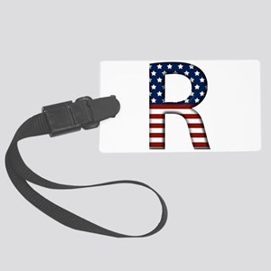 R Stars and Stripes Large Luggage Tag