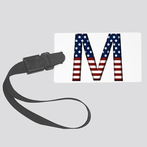 M Stars and Stripes Large Luggage Tag