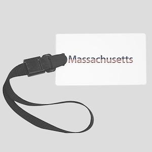 Massachusetts Stars and Stripes Large Luggage Tag