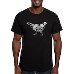 Chicken Men's Fitted T-Shirt (dark)