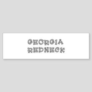 GEORGIA REDNECK Sticker (Bumper)