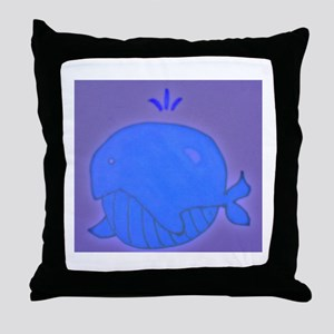 World Whale Throw Pillow