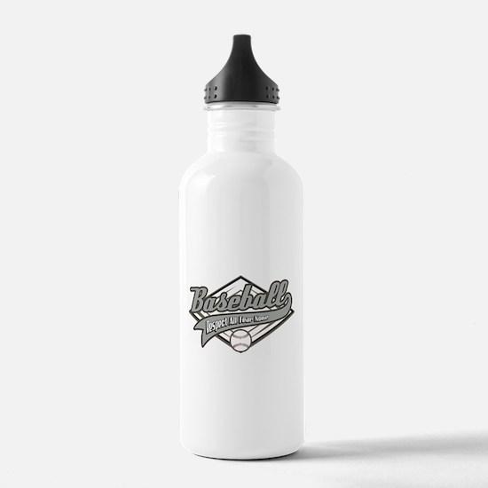 Baseball Respect All Water Bottle