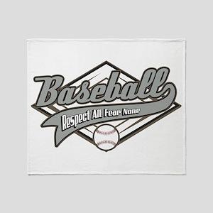 Baseball Respect All Throw Blanket