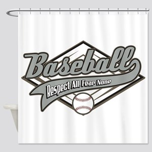 Baseball Respect All Shower Curtain