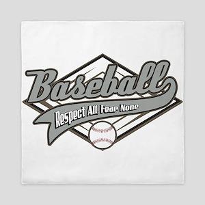 Baseball Respect All Queen Duvet