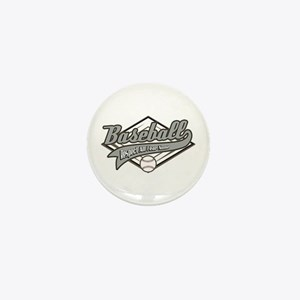 Baseball Respect All Mini Button