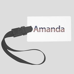 Amanda Stars and Stripes Large Luggage Tag