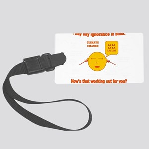 Climate Change Large Luggage Tag