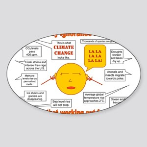 Climate Change Sticker (Oval)