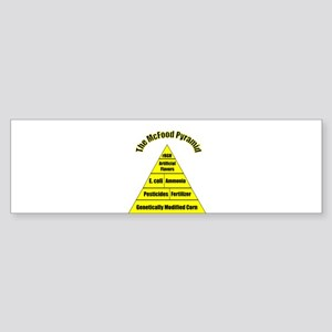 The McFood Pyramid Sticker (Bumper)