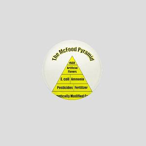 The McFood Pyramid Mini Button