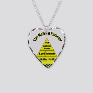 The McFood Pyramid Necklace Heart Charm