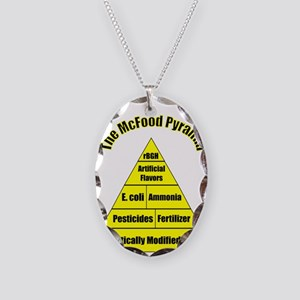 The McFood Pyramid Necklace Oval Charm