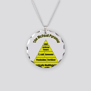 The McFood Pyramid Necklace Circle Charm