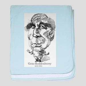 Gene Roddenberry Caricature baby blanket