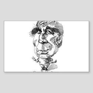 Gene Roddenberry Caricature Sticker (Rectangle)