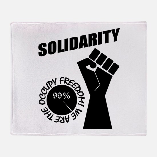 Occupy Freedom! Throw Blanket