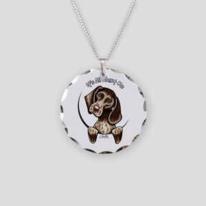 Pointer IAAM Necklace Circle Charm