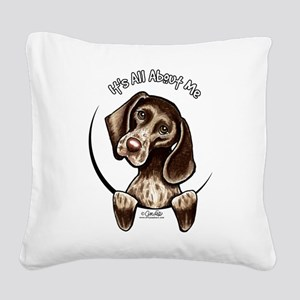 Pointer IAAM Square Canvas Pillow