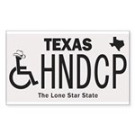 Texas Handicap Plate Sticker (Rectangle 50 pk)