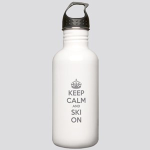 Keep calm and ski on Stainless Water Bottle 1.0L