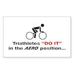 """Aero Position"" Sticker (Rectangle 10 pk)"